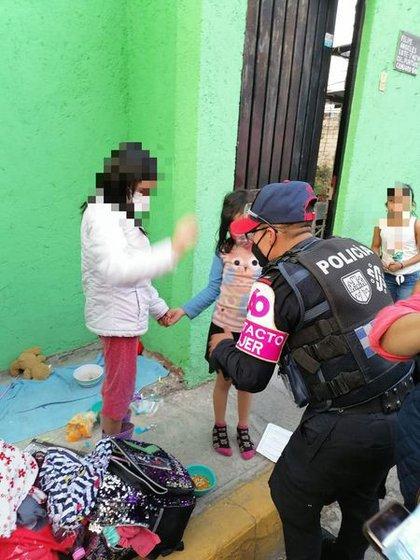 Las menores escaparon de casa por violencia (Foto: SSC)