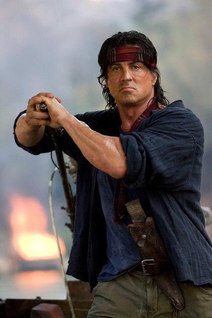 Stallone en el set de Rambo IV en Chiang Mai, Tailandia, en 2008