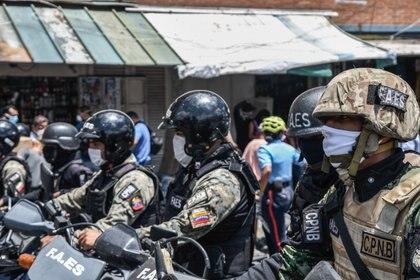 Agentes de las FAES en Caracas, Venezuela (Europa Press)
