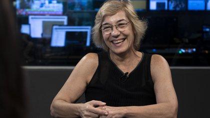 Ana Gambaccini, cofundadora de la comunidad de Facebook Ahora Nosotras que agrupa más de 38 mil mujeres mayores de 50. Además se dedica a difundir y promover la llamada silver economy (Foto/Santiago Saferstein)