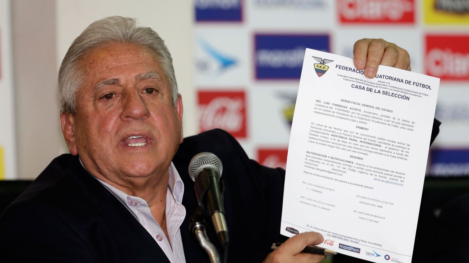 El ex presidente de la Federación Ecuatoriana de Fútbol, Luis Chiriboga (AP)