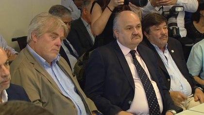 Gustavo Vera, Mario Ravettino, de ABC, y Dardo Chiesa, de CRA
