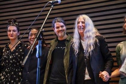 En el CCk junto a Patti Smith (Pablo Tesoriere)