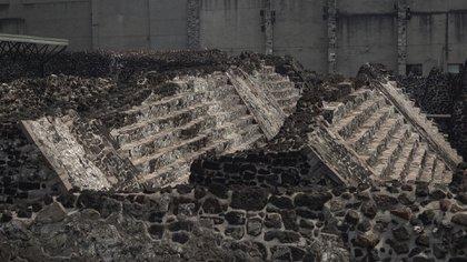 Las escalinatas de las distintas etapas constructivas en el Templo Mayor Foto: Juan Vicente Manrique.