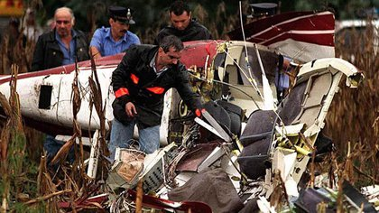 El helicóptero de Carlitos Menem cayó en Ramallo el 15 de marzo de 1995. Con el viajaba el piloto Silvio Oltra