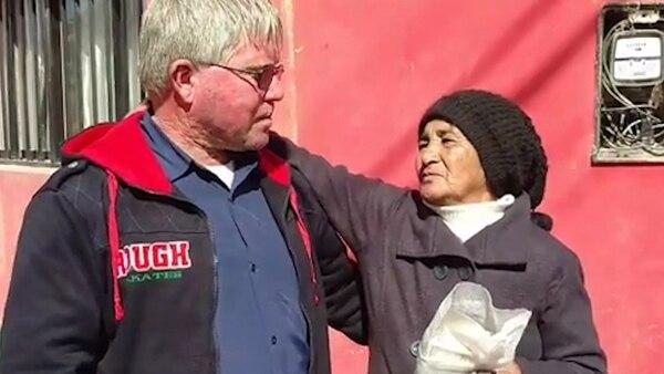 La abuela de Brenda le agradeció el gesto a José Ortiz