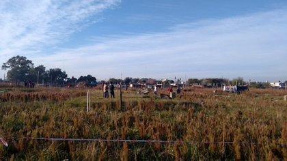 Terrenos ocupados en Ciudad Evita, La Matanza