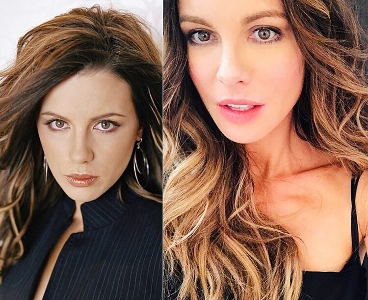 Kate Beckinsale #10yearchallenge (Instagram: Kate Beckinsale)