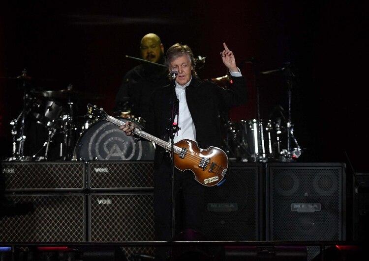 McCartney habló en español durante gran parte del show (Télam)
