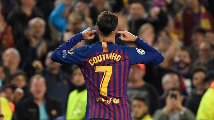(AFP) Coutinho tuvo un encontronazo con la afición