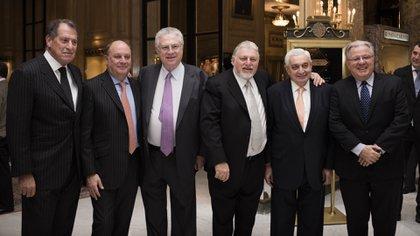 Jorge Brito en el CiCyp con Martín Cabrales, Adrián Werthein y Adelmo Gabbi, entre otros (Adrián Escandar)