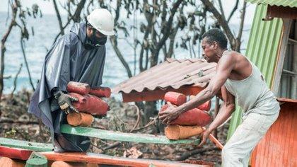 Calamidad pública en San Andrés tras paso de la tormenta tropical Eta.
