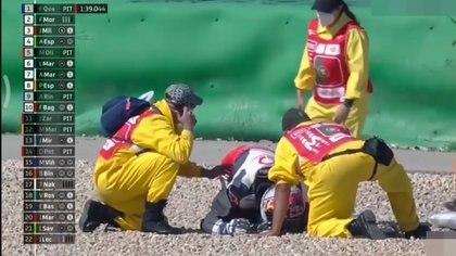 Martín fue atendido rápidamente por los médicos del circuito