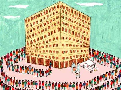 """Uno de los dibujos que la artista realizó para el blog de Lena Dunham, la creadora de """"Girls"""""""
