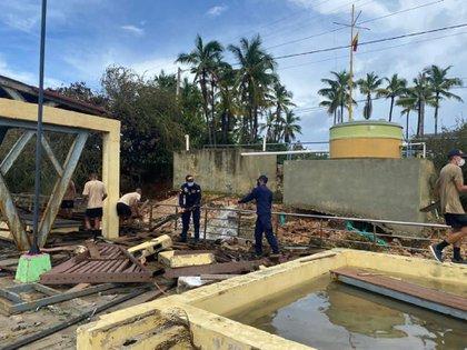 Afectaciones dejadas por el 'coletazo' del huracán Eta en el Archipiélago de San Andrés y Providencia