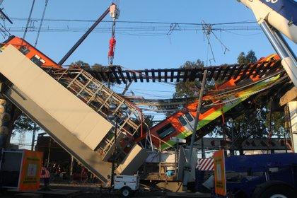 Estación Olivos de la línea 12 del Sistema de Transporte Colectivo Metro tras presentar un colapso. Ciudad de México, mayo 4, 2021. Foto: Karina Hernández/Infobae
