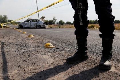 Narcobloqueos por el Cártel de Santa Rosa de Lima (Foto: REUTERS/Sergio Maldonado)
