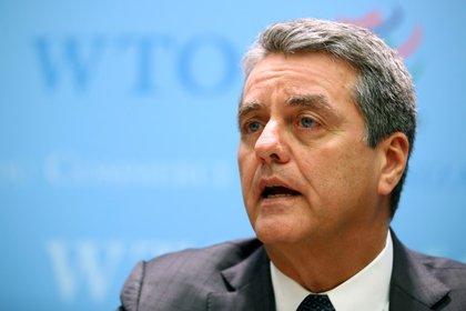 Foto de archivo del director general de la OMC, Roberto Azevedo, durante una conferencia de prensa en Ginebra. 10 de diciembre de 2019. REUTERS/Denis Balibouse