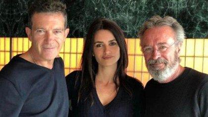 """Oscar Martínez, con Antonio Banderas y Penélope Cruz, protagonistas de """"Competencia oficial"""""""