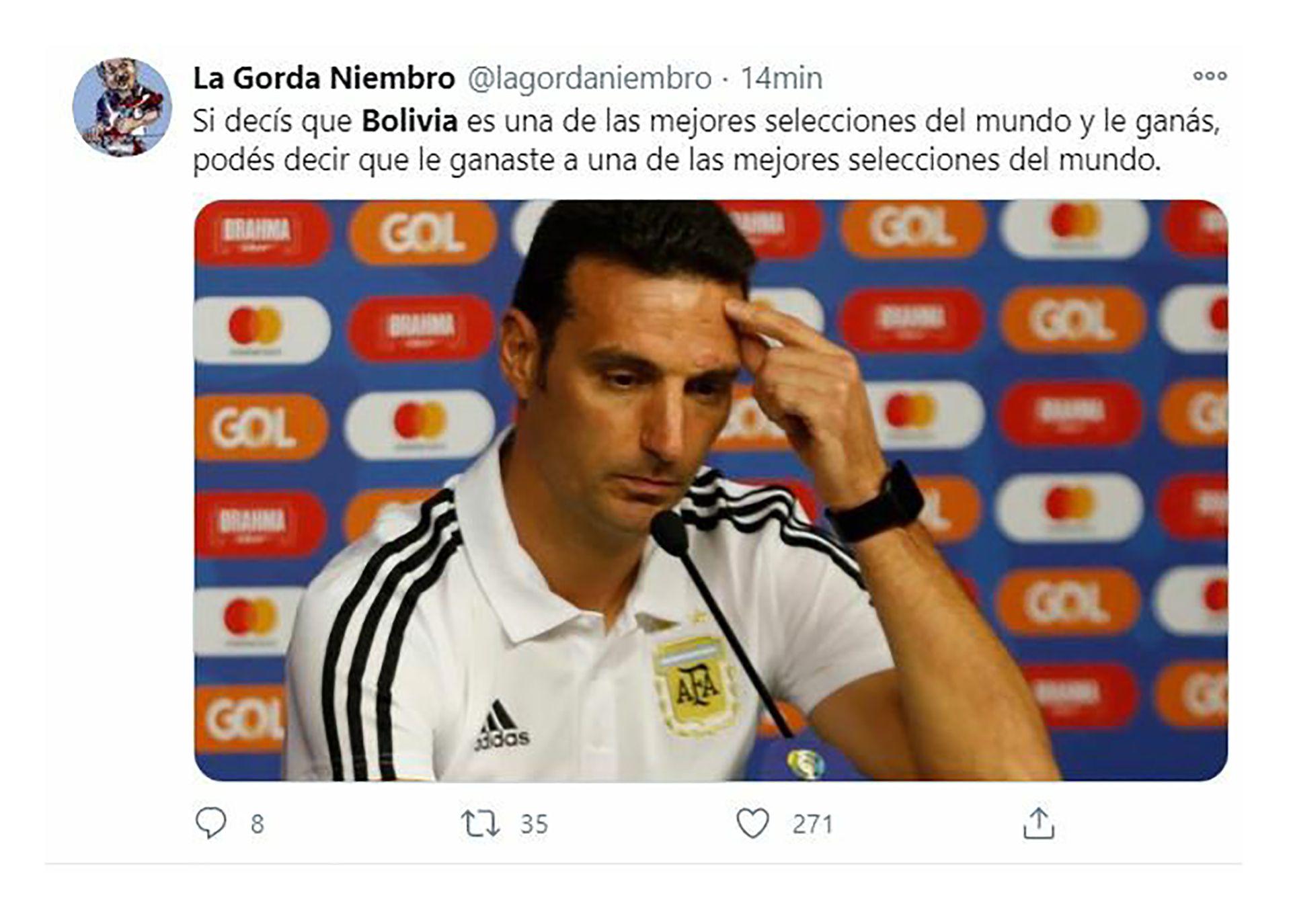 memes Bolivia vs Argentina