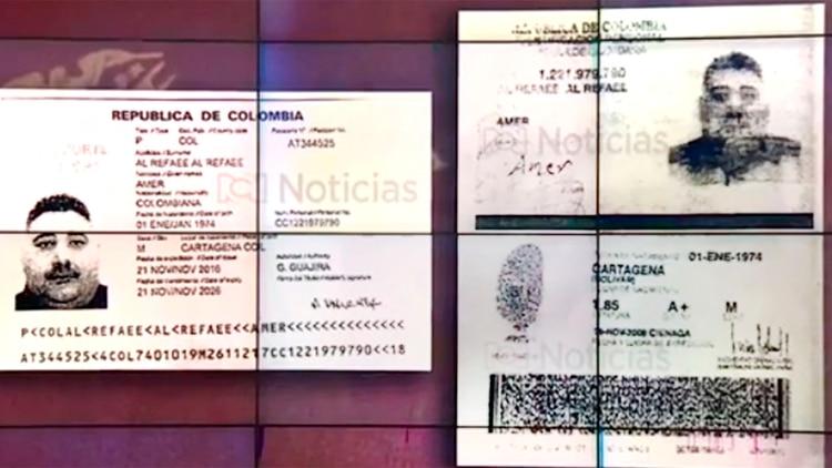 Los documentos de los detenidos