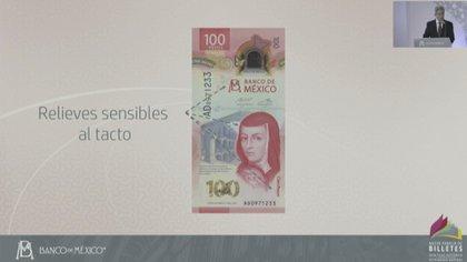 presentación nuevo billete de cien pesos (Foto: Banco de México)