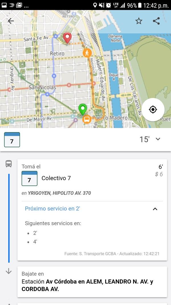 La información se actualiza en tiempo real y se puede visualizar en el mapa