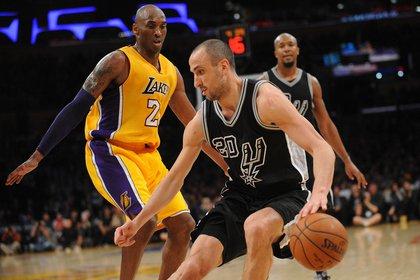 Ginóbili i Kobe Bryant, una rivalitat que es va estendre durant gairebé dues dècades a la NBA