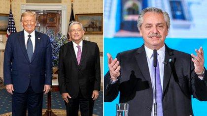 El presidente mexicano Andrés Manuel López Obrador llenó de elogios a su par estadounidense Donald Trump, al que Alberto Fernández acusa de romper la Unasur, hundir la Celac y birlarle la presidencia del BID