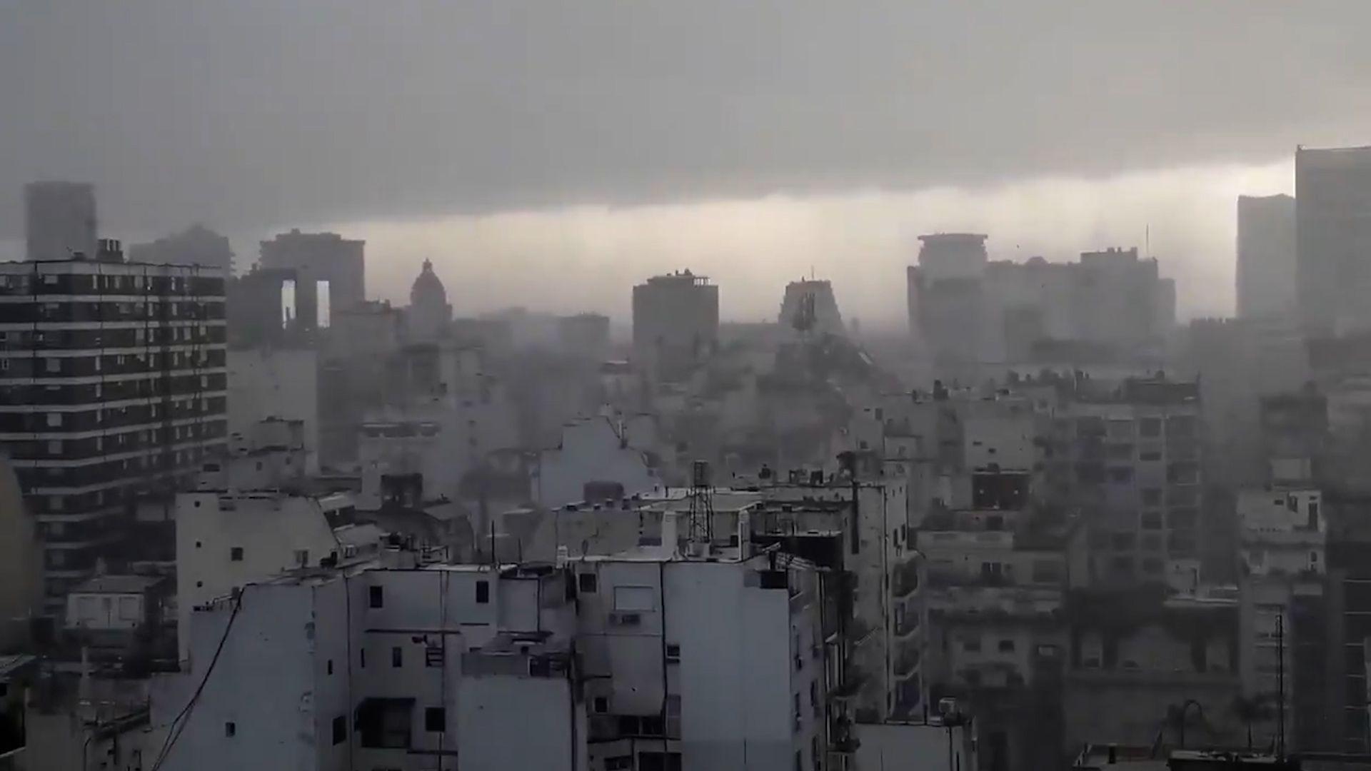 Lluvias en la ciudad de Buenos Aires captura