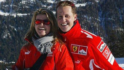 Corinna junto a Michael Schumacher