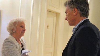El encuentro que mantuvo Estela de Carlotto con Mauricio Macri cuando era presidente