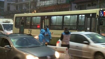 Control en el transporte público: las cifras oficiales indican que fueron efectivas las restricciones.
