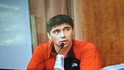 """Martín Báez, con cambio de look, al declarar la semana pasada en el juicio oral de la """"ruta de dinero k"""""""