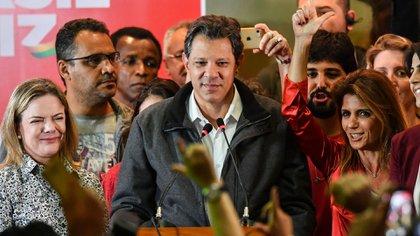 Fernando Haddad, derrotado en la segunda vuelta (AFP)