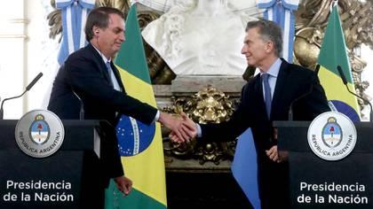 Mauricio Macri ofreció el apoyo de Argentina a Jair Bolsonaro