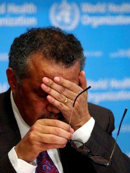 Tedros Adhanom Ghebreyesus en la conferencia de prensa (REUTERS/Denis Balibouse)