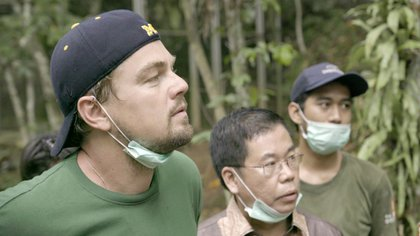 "DiCaprio durante una escena del documental ""Before the Flood"" (National Geographic)"