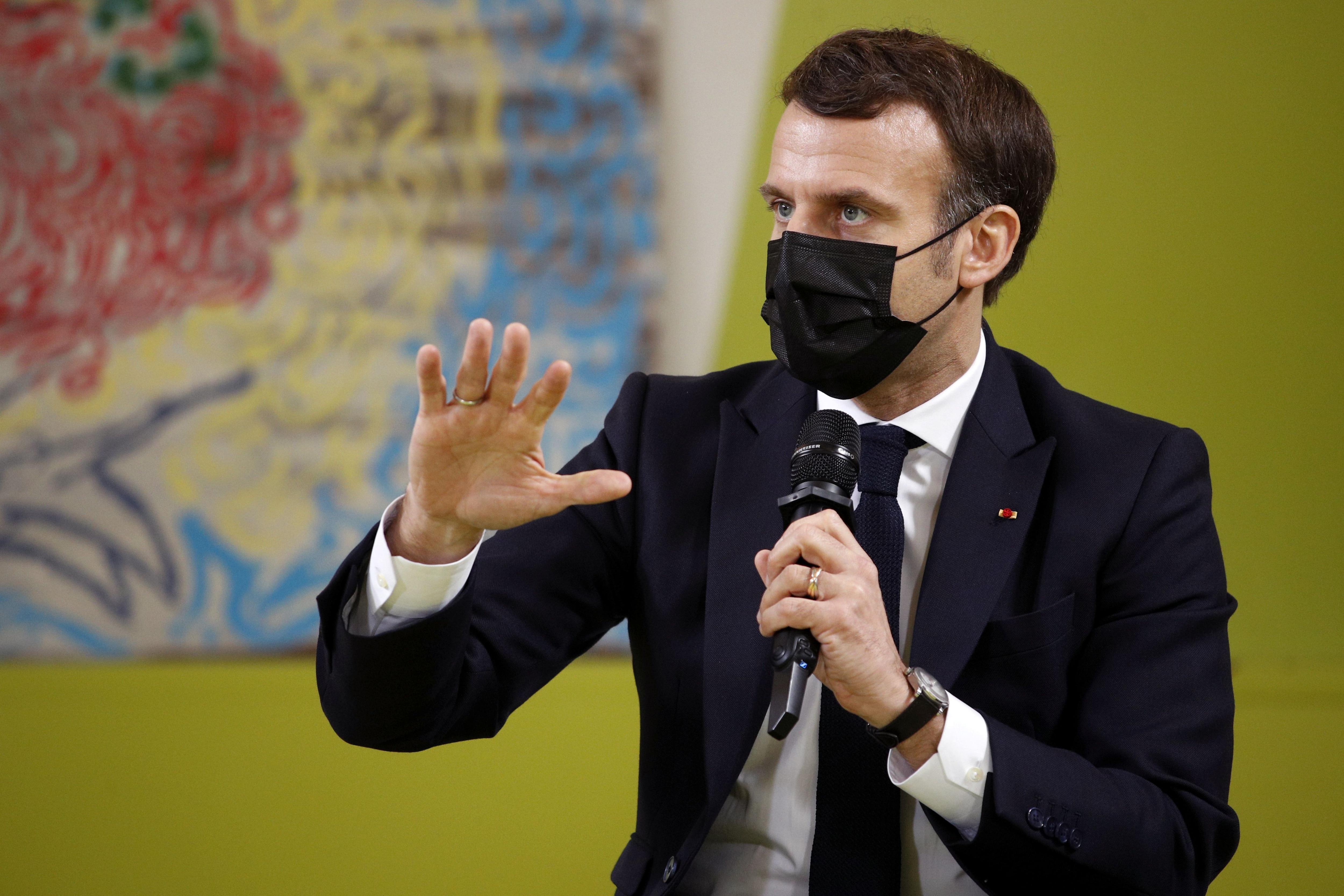 El presidente de Francia, Emmanuel Macron (Yoan Valat/Pool via REUTERS)