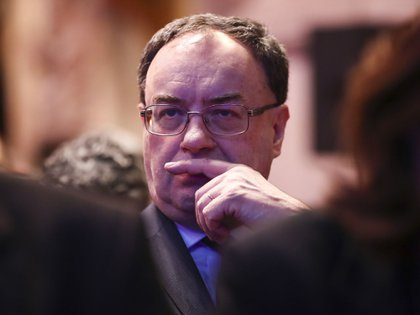 Andrew Bailey, chief executive officer of the Financial Conduct Authority (FCA), attends the launch of the COP26 Private Finance Agenda in London, U.K., on Thursday, Feb. 27, 2020. In a world facing a climate crisis, investors need to start taking account of carbon emissions and rising temperatures in their decisions, according to Bank of England Governor Mark Carney.