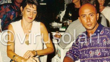 El Indio Solari y su esposa, Virgnia (@virusolari)