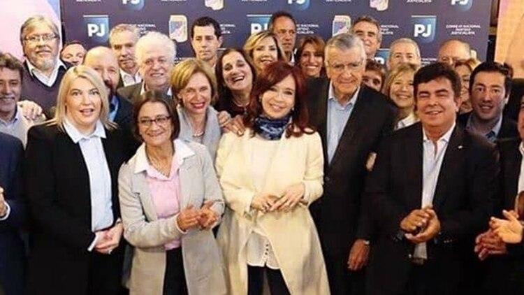Cristina Kirchner, en el Congreso del PJ. Después de esa reunión decidió blanquear sus aspiraciones políticas