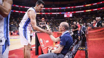 Luis Scola y Sergio Hernández, dos símbolos de la selección argentina (Crédito FIBA)