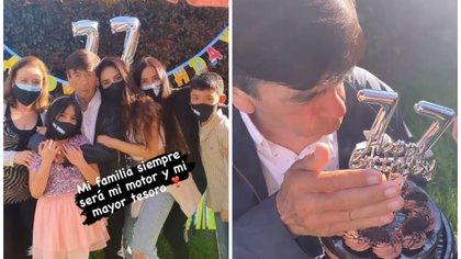 Así celebró Jessica Cediel el cumpleaños número 77 de su padre