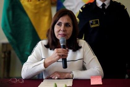 La ministra interina de exteriores de Bolivia, Karen Longaric (REUTERS/David Mercado)