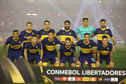 Este fue el equipo de Boca en la ida contra River: para la revancha habrá varias modificaciones (Foto Baires)