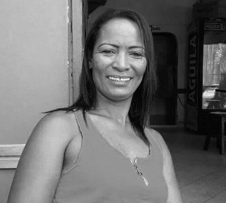 La líder social asesinada en Cáseres, Ana María Cortés.