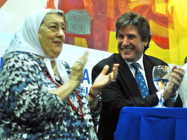 Bonafini junto al ex vicepresidente, Amado Boudou