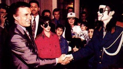 El encuentro en la Casa Rosada con el ex presidente Menem