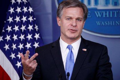 En la imagen, el director del FBI, Christopher Wray. EFE/Shawn Thew/Archivo